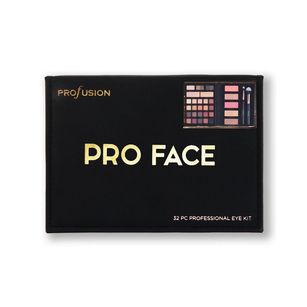 Набор для макияжа глаз Profusion Pro Face ( воск для бровей + тени для бровей + хайлайтер кремовый для лица + тени для век + румяна для лица + хайлайтер для лица + пудра - бронзер + кисти )