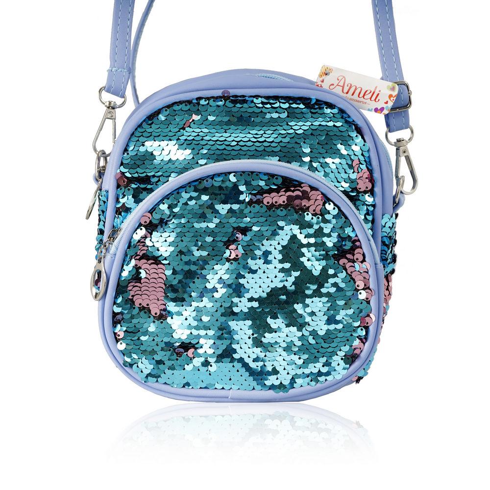 Фото - Косметичка - рюкзак Ameli в пайетках , 1 отделение с карманом , длинный ремень косметичка конверт ameli со звездой