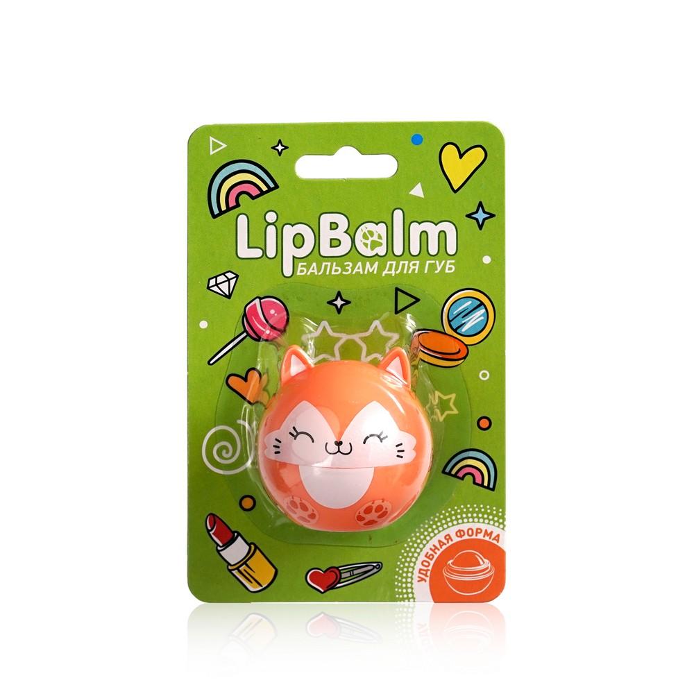 Бальзам для губ Lip Balm  Лиса  с ароматом апельсина 6,5г бальзам для губ lip balm заяц с ароматом зефира 6 5г