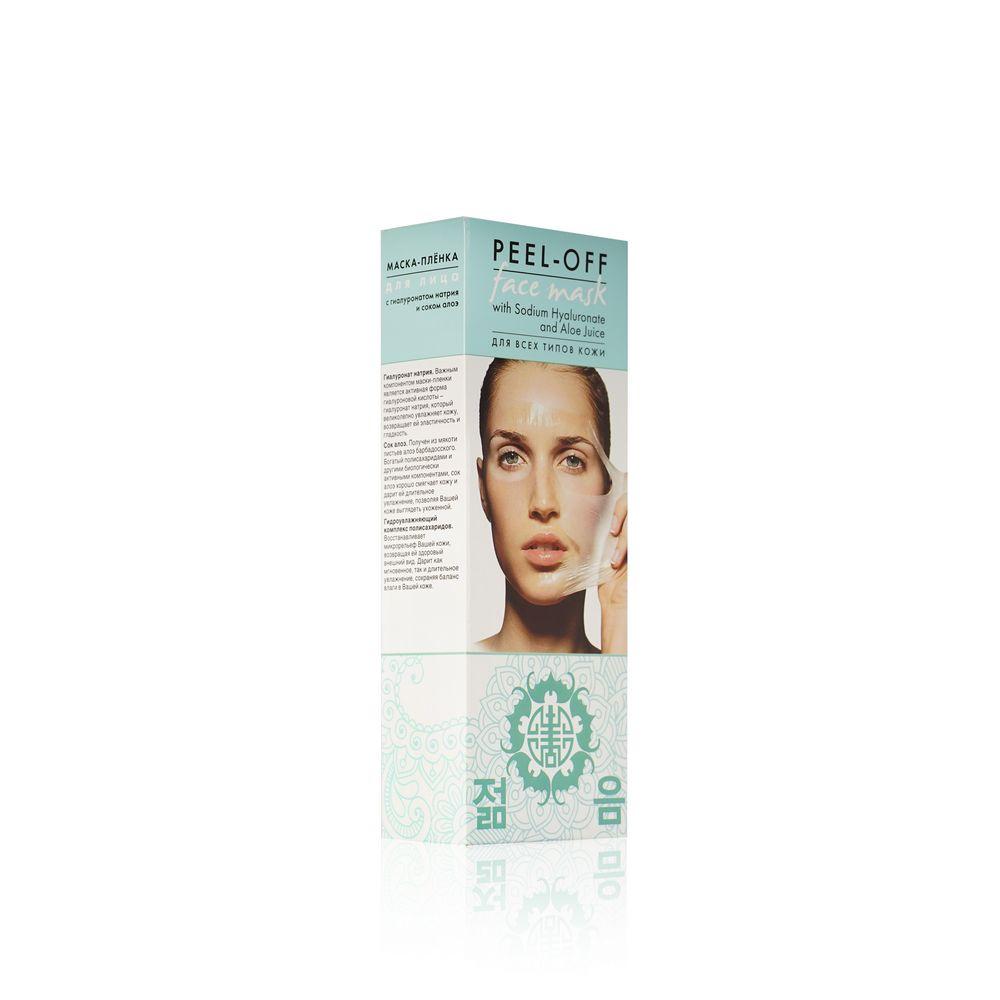 Маска - пленка для лица Peel-Off с гиалуронатом натрия и соком алоэ 100мл