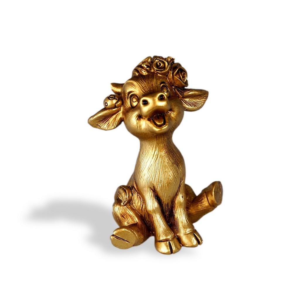 Сувенир Artus Новый Год  Золотой бычок сидящий  керамика 5см набор форм для выпечки menu 5см 3 5см 50шт бумага