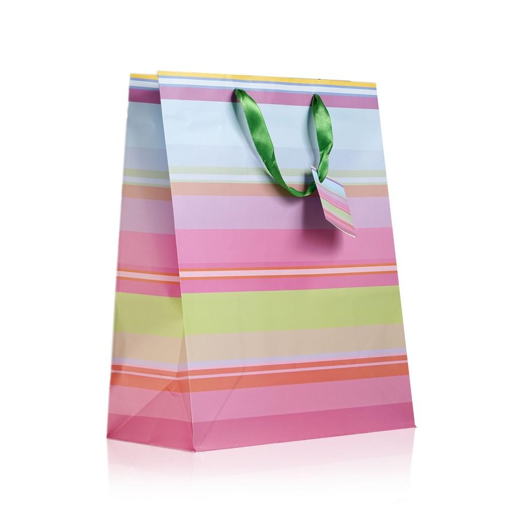 Пакет УРРА подарочный , ламинированный с глиттерным декором односторонний L