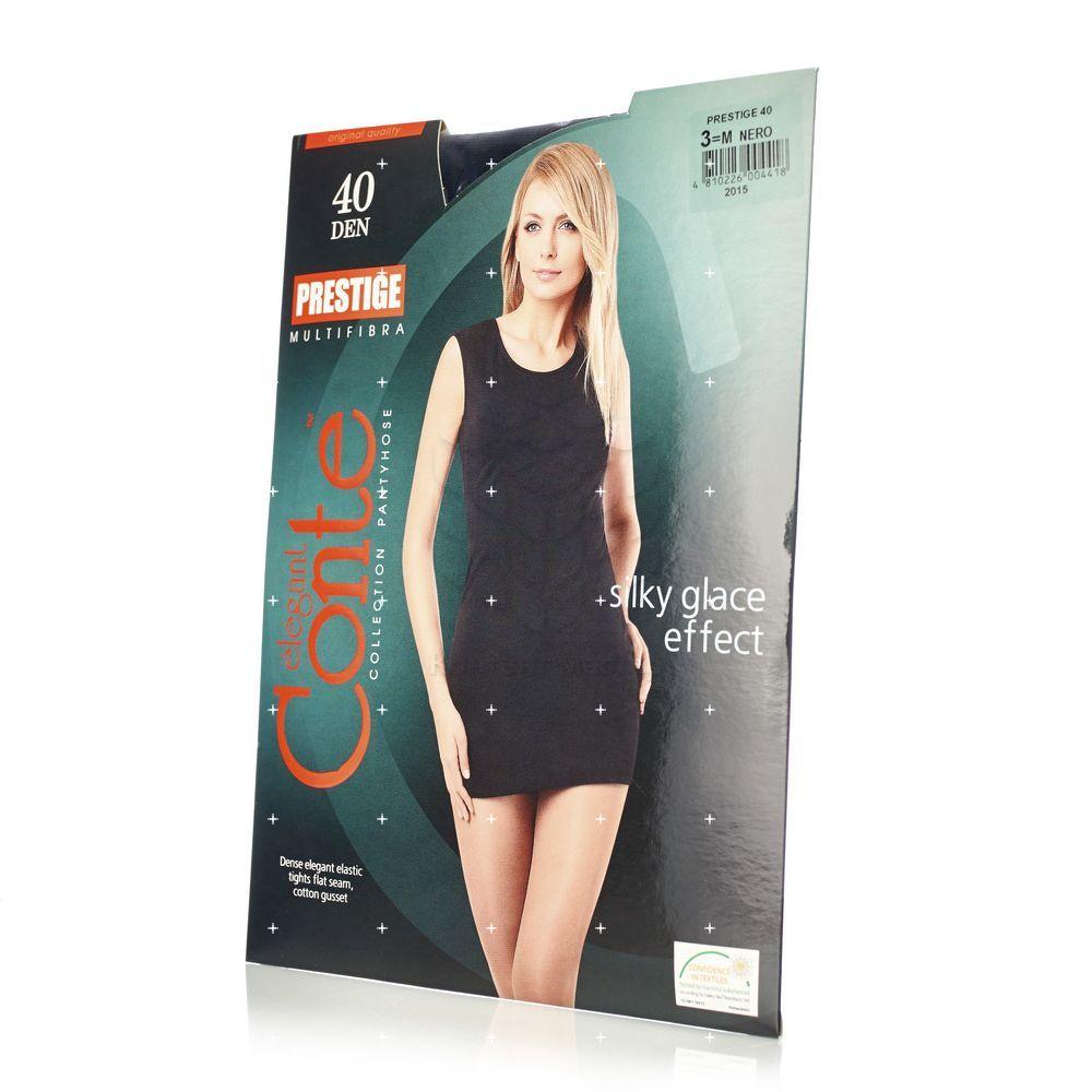Женские колготки Conte Prestige 40den Nero 3 размер колготки glamour prestige 40 nero