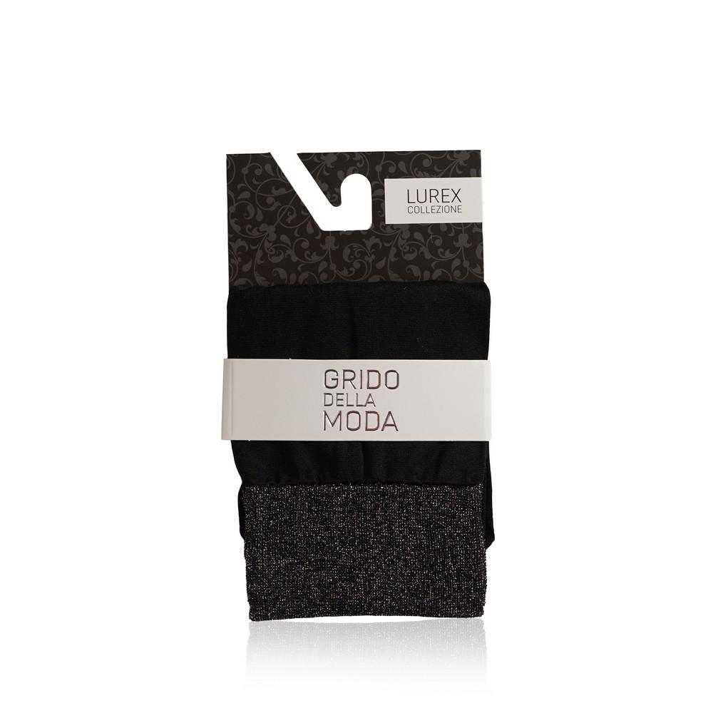 Женские носки Grido della Moda из микрофибры 40den черные , резинка с люрексом лиф от купальника из микрофибры с люрексом