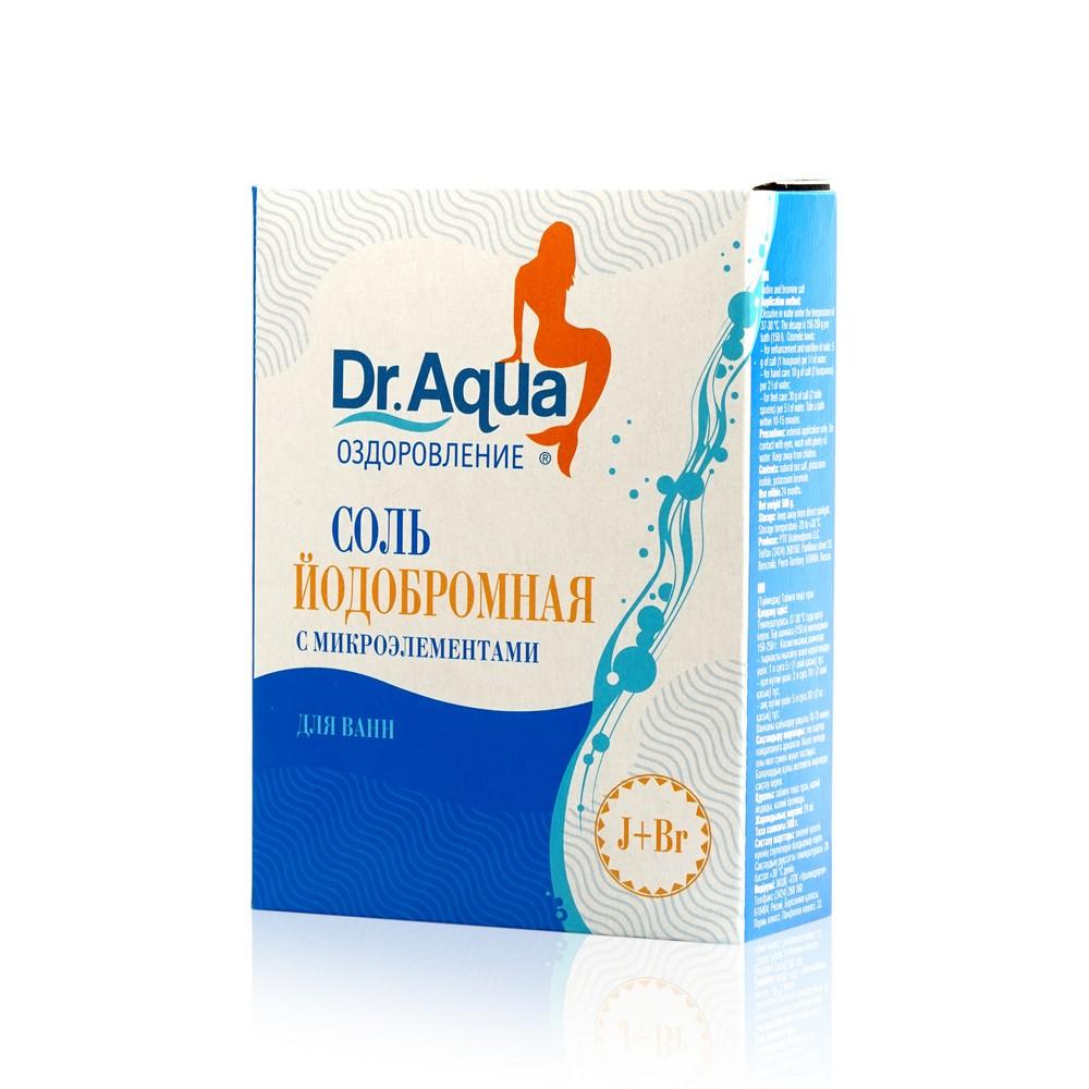 Соль морская для ванны Dr. Aqua йодированная 500г