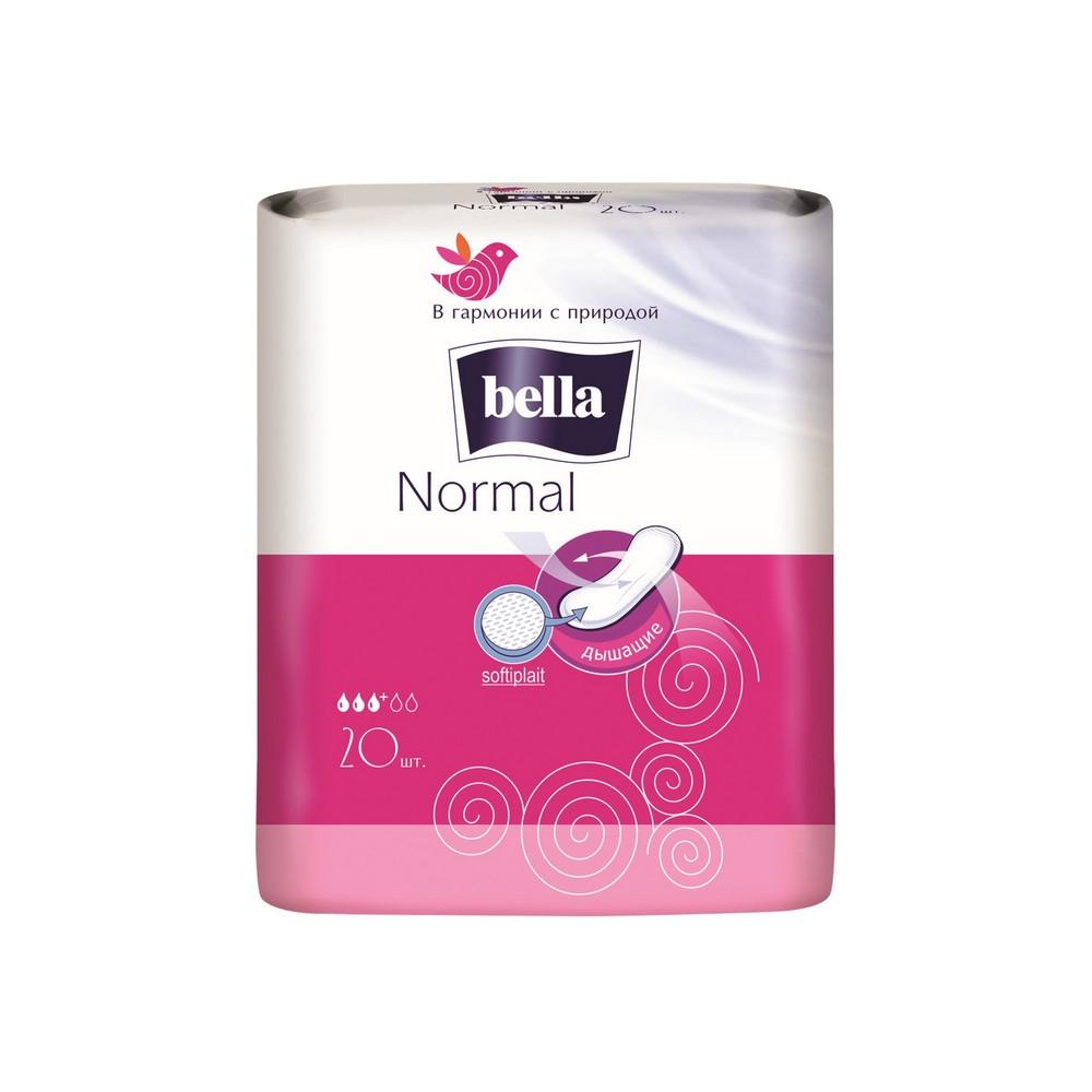 Женские прокладки Bella дышащие без крылышек Normal 20шт