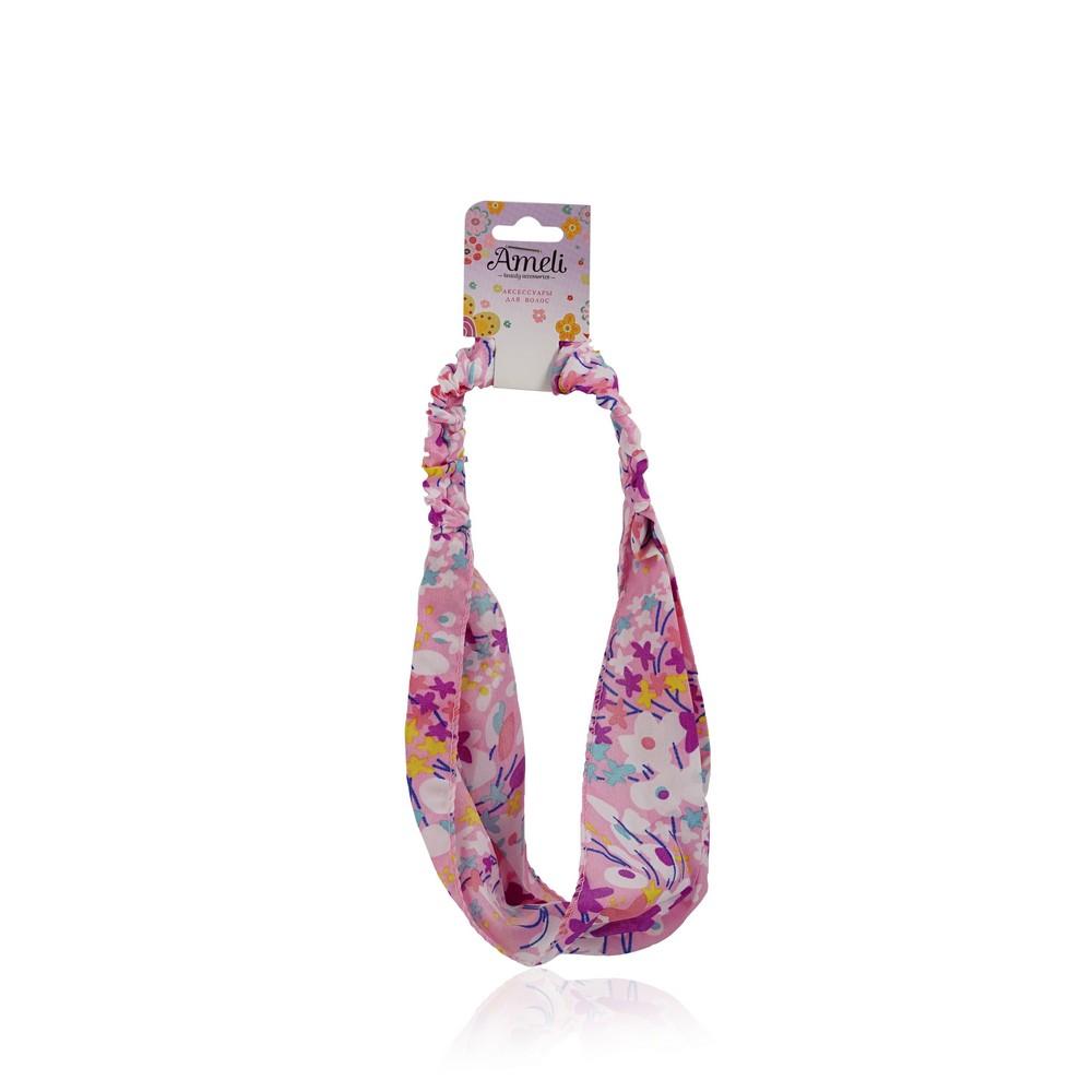 Фото - Повязка для волос Ameli в цветочках повязка для волос ameli сверкающая