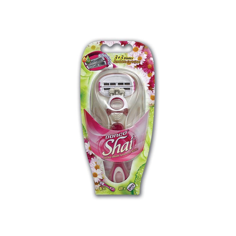 Станок для бритья Dorco Shai 3+3 Blades + сменные кассеты 2шт