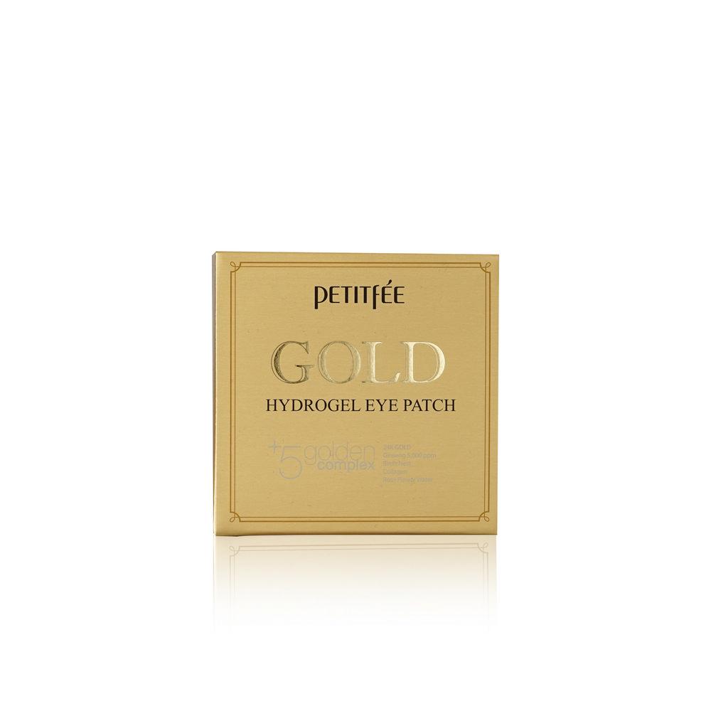 Гидрогелевые патчи PETITFEE для области вокруг глаз , с коллоидным золотом , 60шт