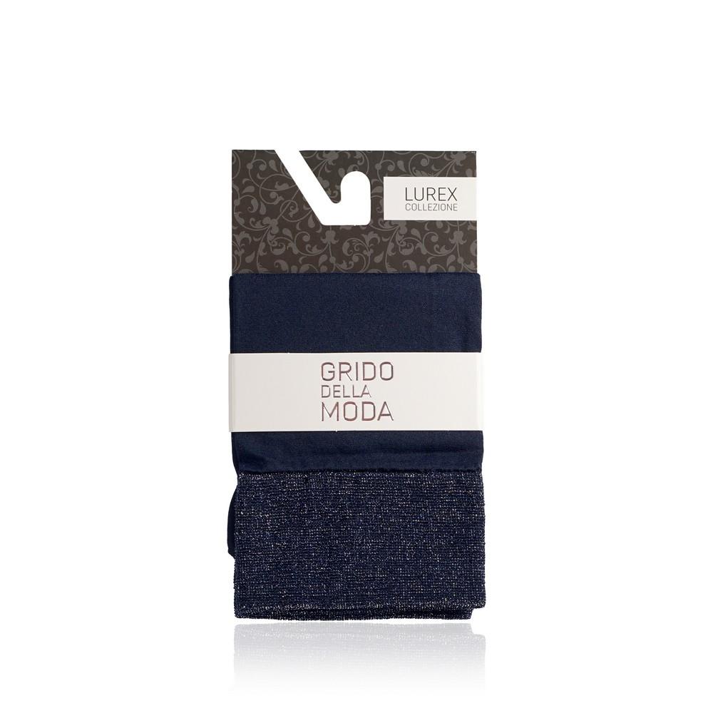 Женские носки Grido della Moda из микрофибры 40den синие , резинка с люрексом лиф от купальника из микрофибры с люрексом