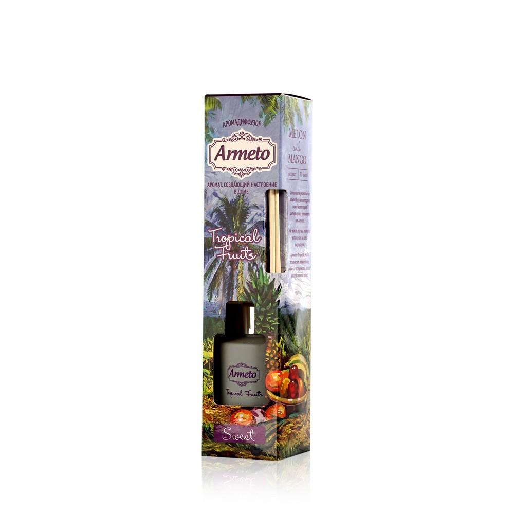 Освежитель воздуха Armeto с ротанговыми палочками  Tropic Fruit  40мл mac tropic tonic