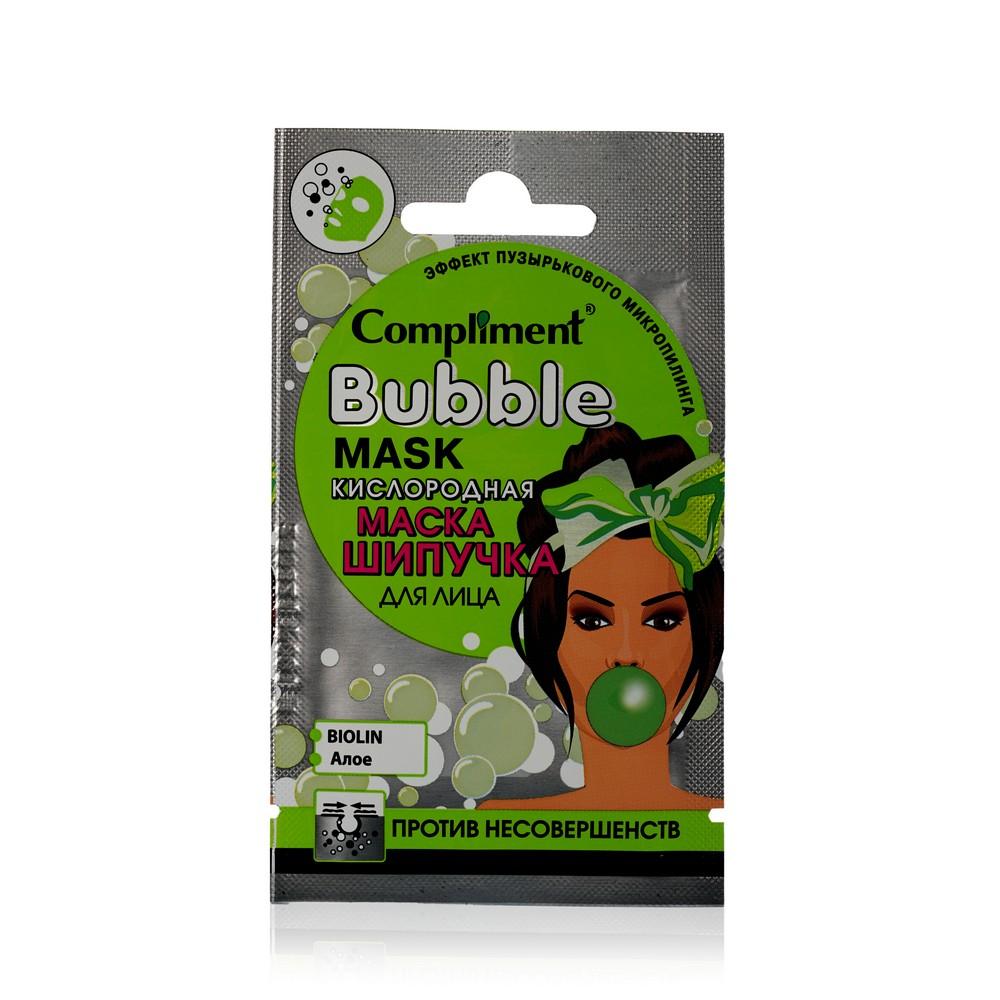 Фото - Кислородная маска - шипучка для лица Compliment Bubble против несовершенств 7мл compliment маска пленка no