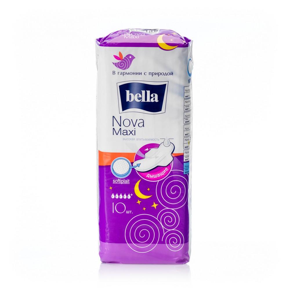 Прокладки Bella Nova Maxi с нетканым материалом softiplait 10шт