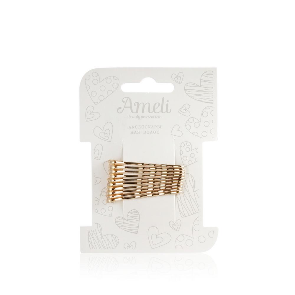 Набор невидимок для волос Ameli Золото 10шт