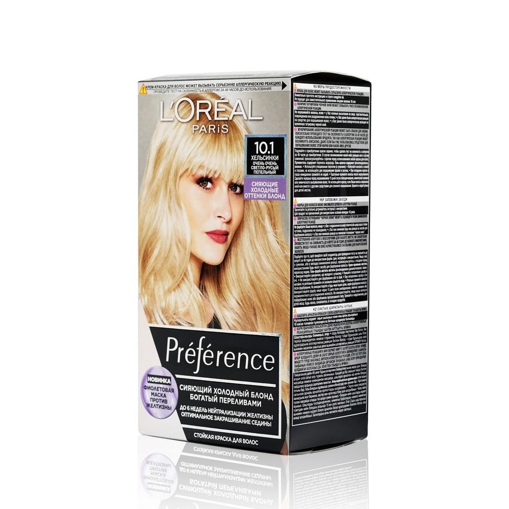 Фото - Стойкая краска для волос L'Oreal Paris Preference Cool blondes 10.1 Хельсинки l oreal paris 18
