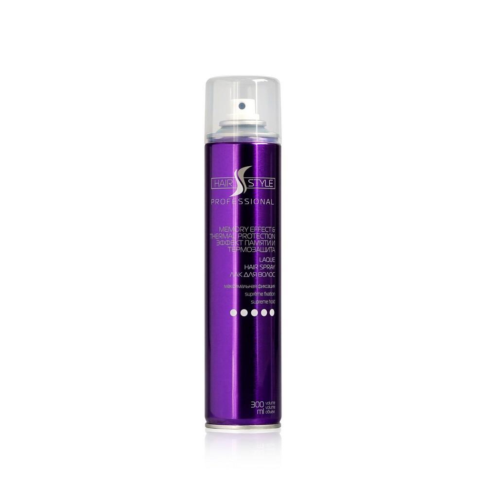 Лак для укладки волос Hair style  Эффект памяти и термозащита Мегафиксация (5)