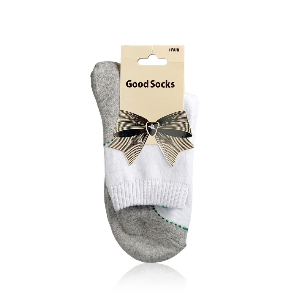 Женские носки Good Socks LC12 махровые , р.23 Серый / Белый