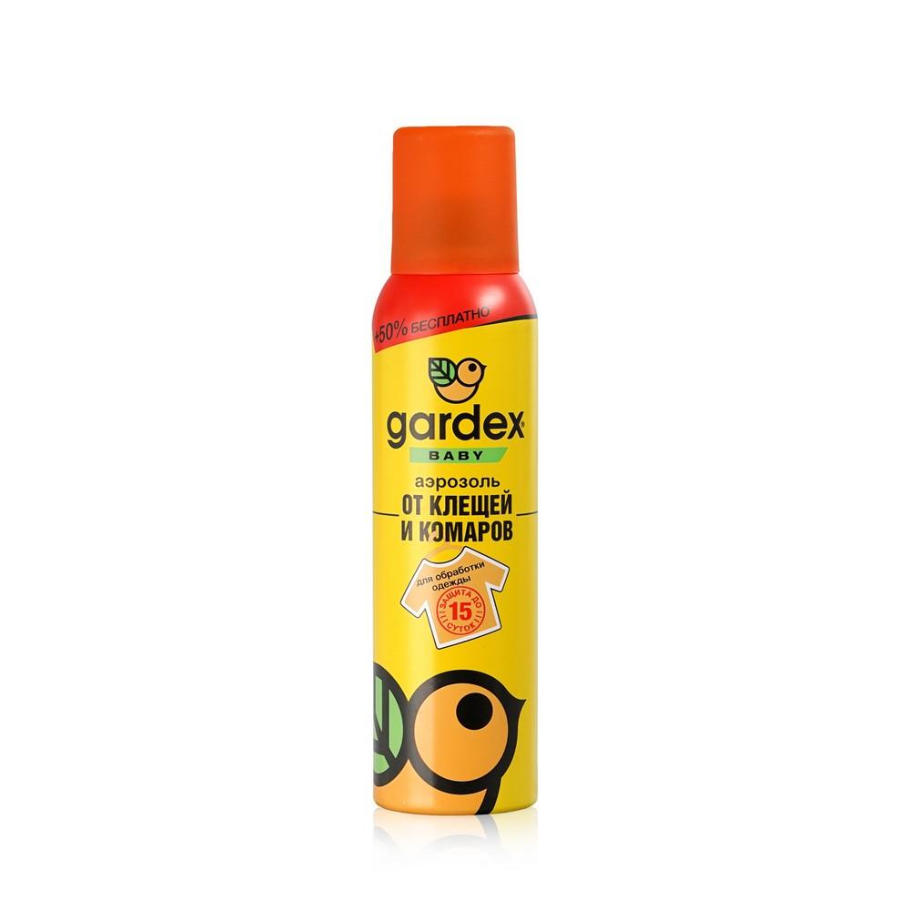 Аэрозоль от клещей и комаров Gardex Baby на одежду 150мл
