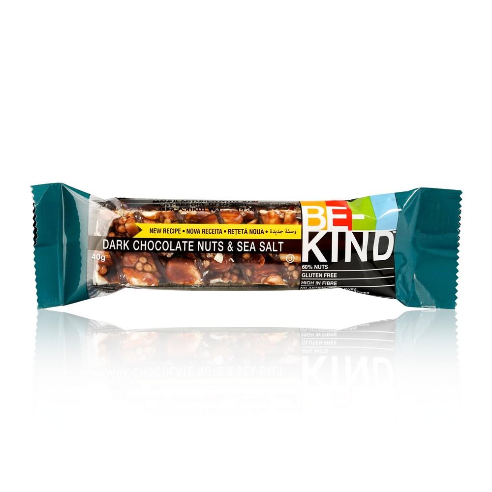 Ореховый Батончик Be-Kind со горьким шоколадом , морской солью 40г