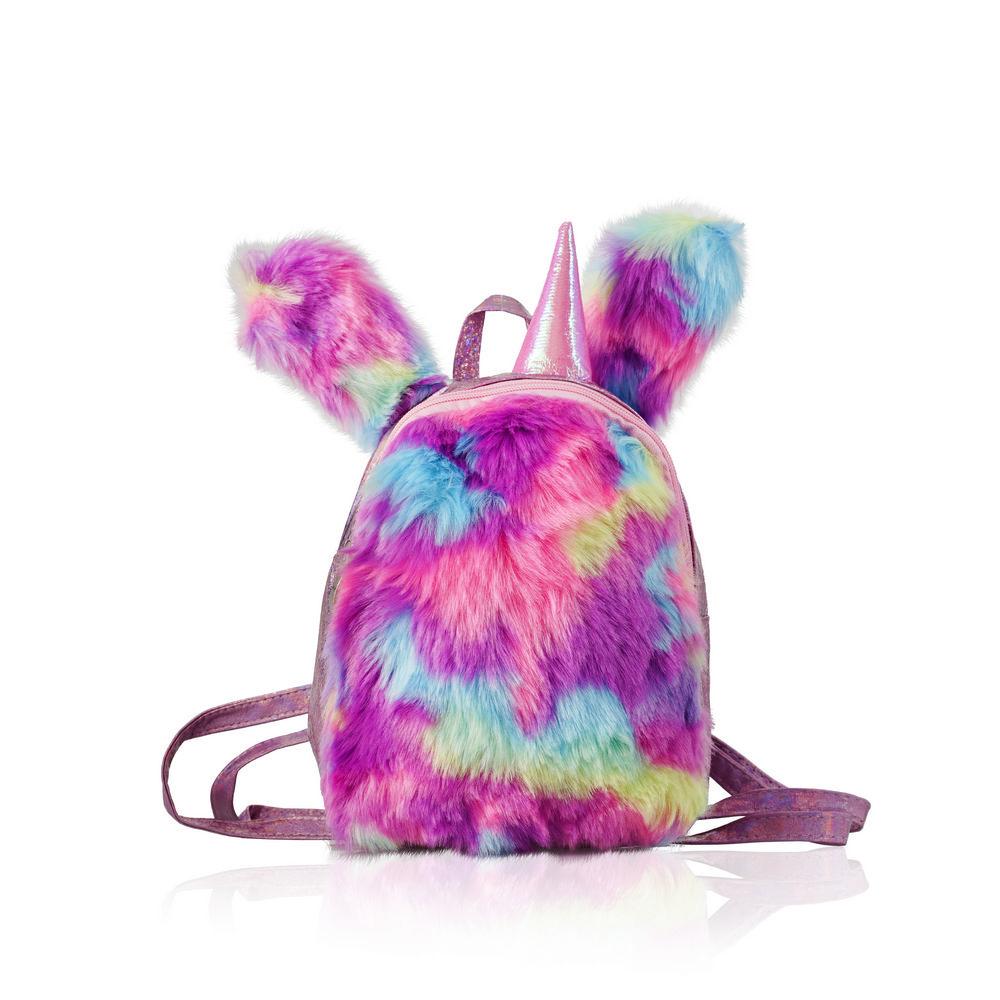 Косметичка - рюкзак Ameli пушистый , разноцветный mag taller рюкзак zoom flowers разноцветный
