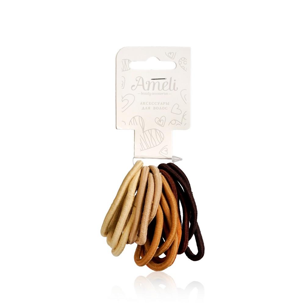 Набор резинок для волос Ameli , 3 цвета , 18шт недорого