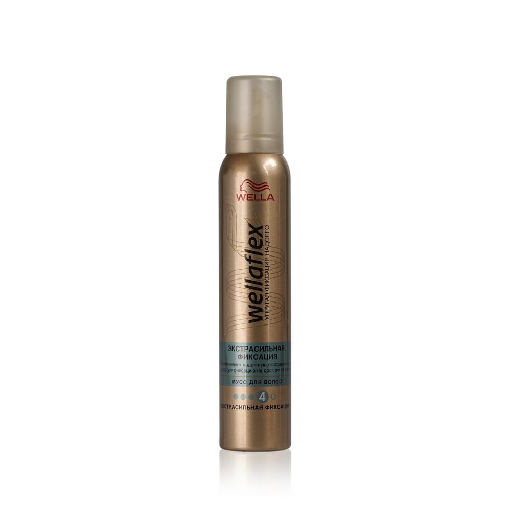 Мусс для укладки волос Wellaflex Экстрасильная фиксация (4) 200мл