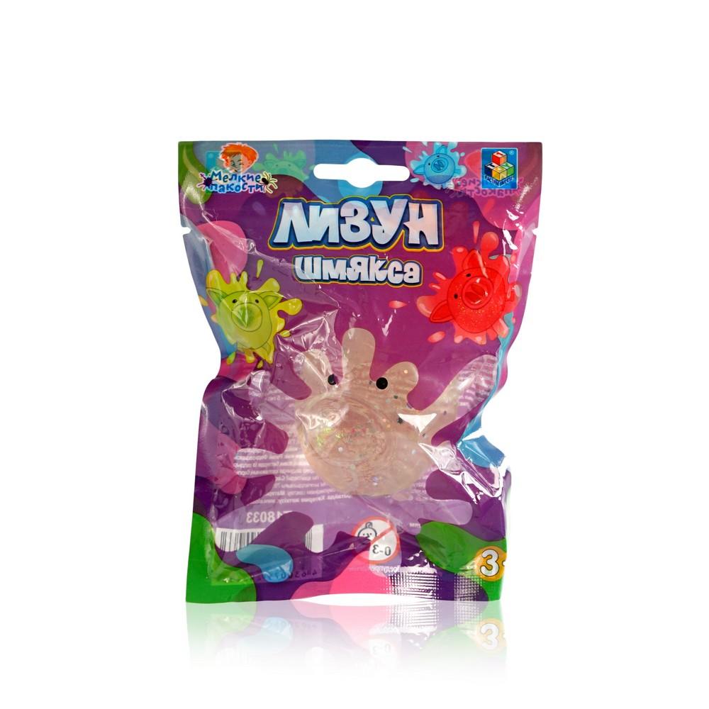Лизун - Шмякса 1 Toy Мелкие пакости  Свинка с блестками