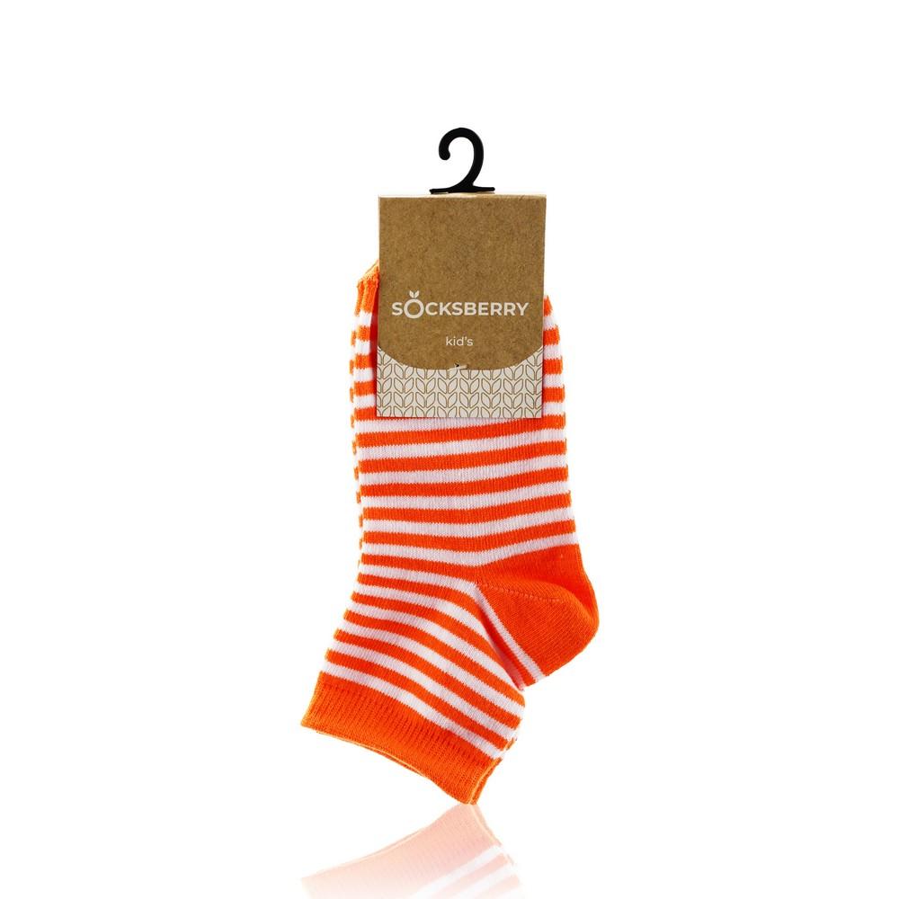 Детские носки Socksberry KS-0017 , оранжевые полосы , р.18