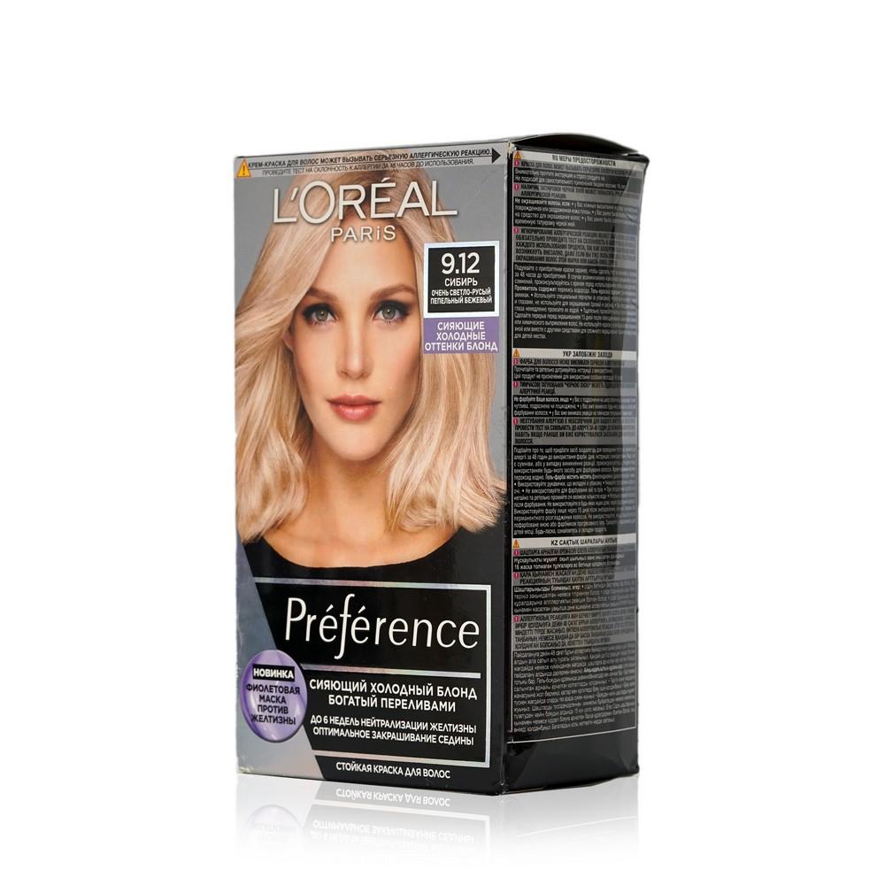 Фото - Краска для волос L'Oreal Paris Preference 9.12 Сибирь Очень светло-русый l oreal paris 18
