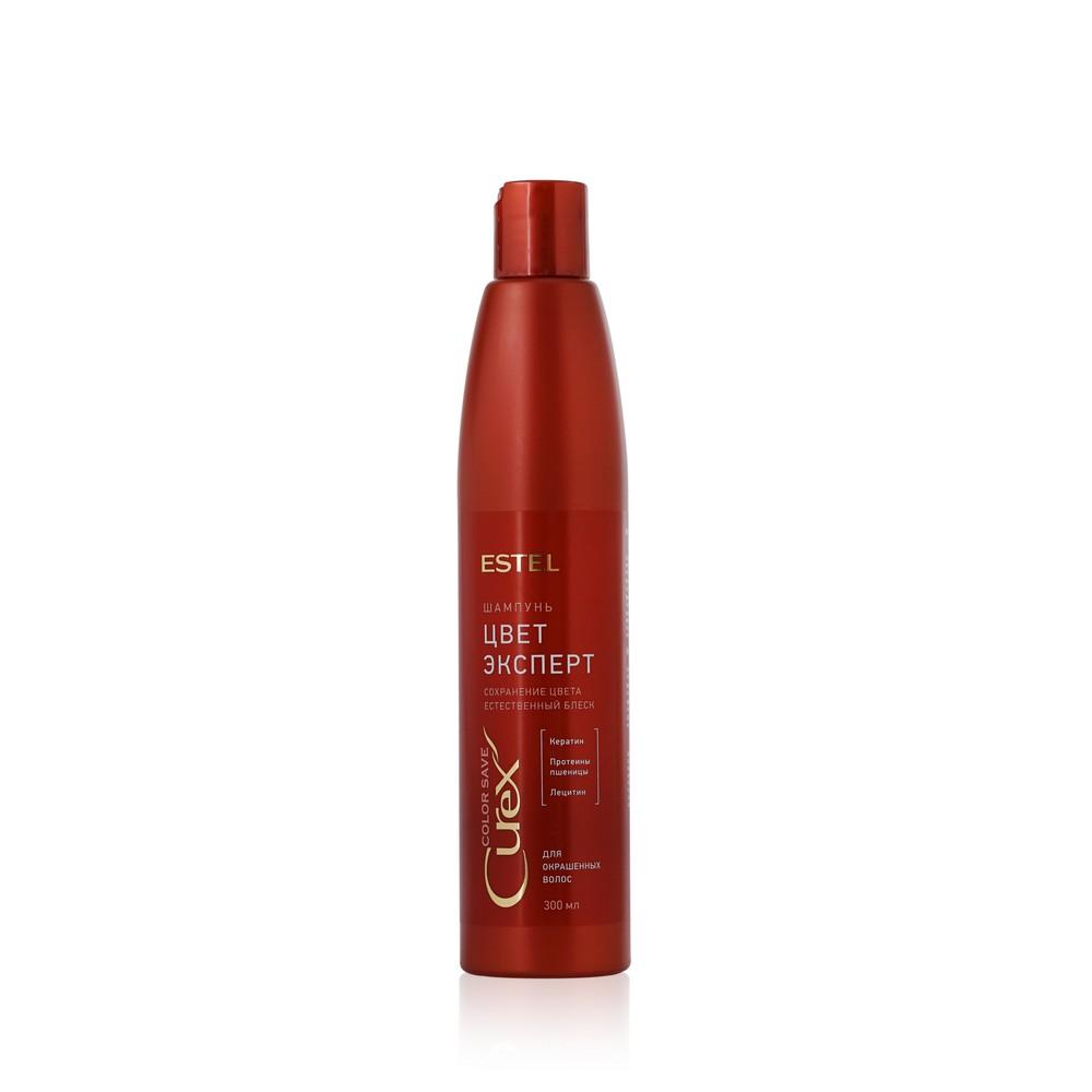 Шампунь Estel Curex Color Save  Поддержание цвета  для окрашенных волос 300мл состав для щадящей химической завивки окрашенных волос trioform save g 1 л