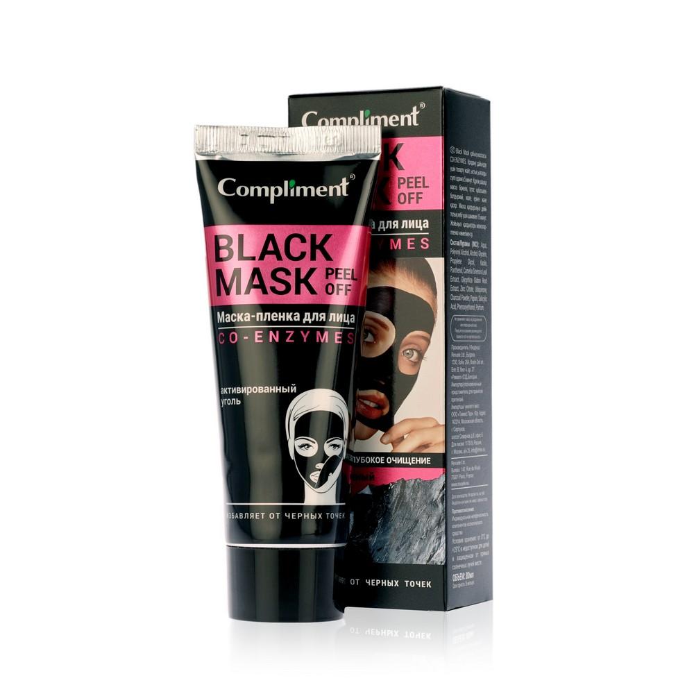 Фото - Маска - пленка для лица Compliment Black Mask Peel Off Co-Enzymes  глубокое очищение  80мл compliment маска пленка no