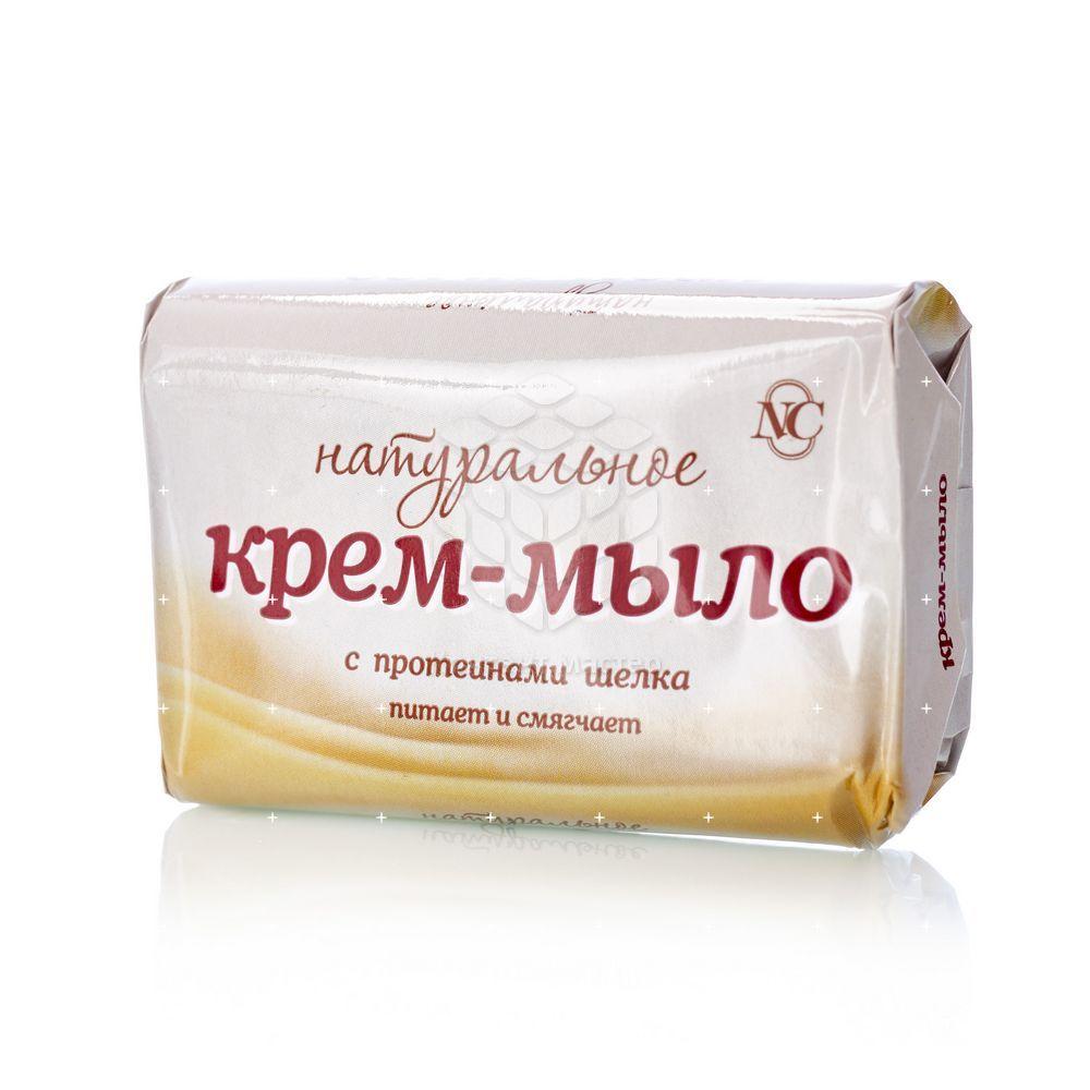Крем - мыло Невская Косметика натуральное с протеинами шелка 90г недорого