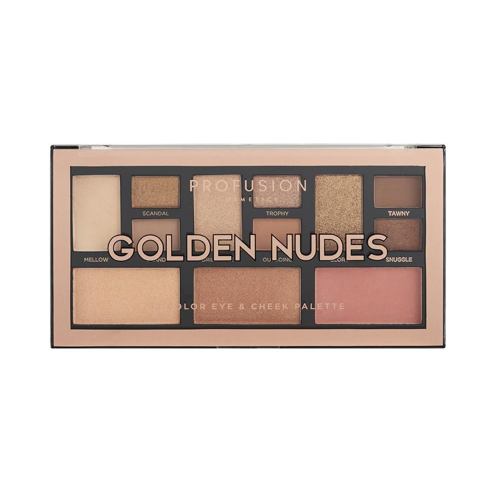 Палетка теней для век Profusion  Golden Nudes