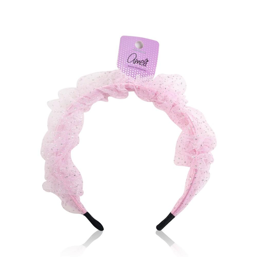 Фото - Ободок для волос Ameli со сборкой повязка для волос ameli сверкающая