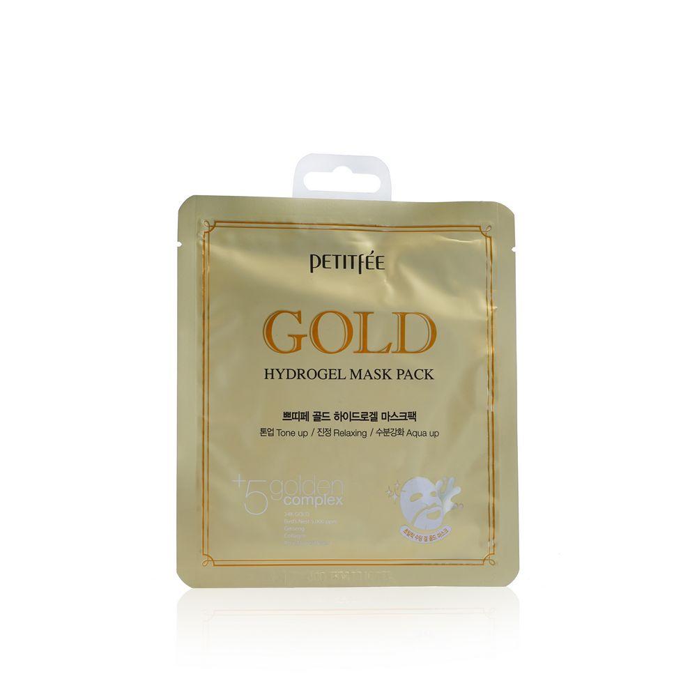 Гидрогелевая маска PETITFEE для лица , с золотом