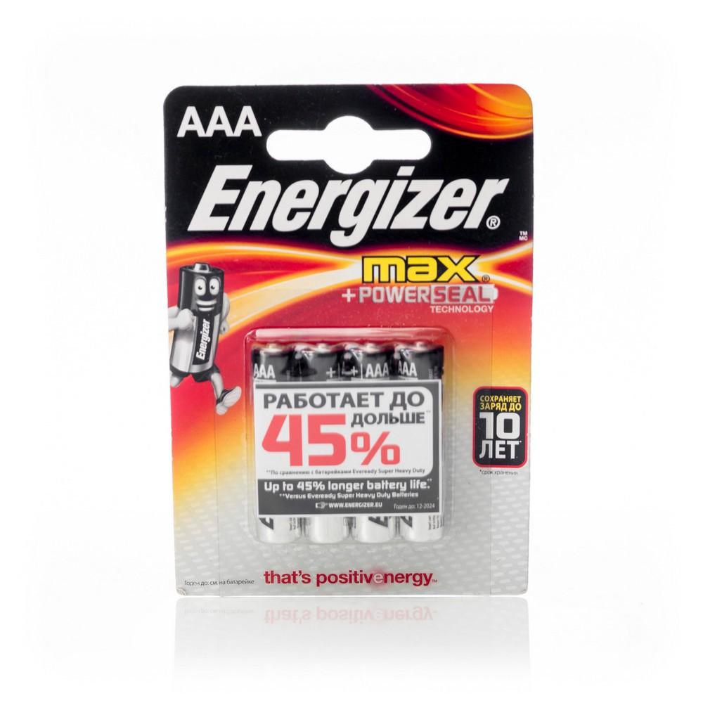 Батарейки Energizer Max Е92/ААА 4шт освежитель воздуха автомобильный energizer ryc клипса клубника прохладный лимонад 4шт e301408800 37290