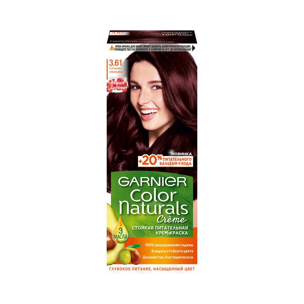 Стойкая крем - краска для волос Garnier Color Naturals 3.61 Сочная ежевика