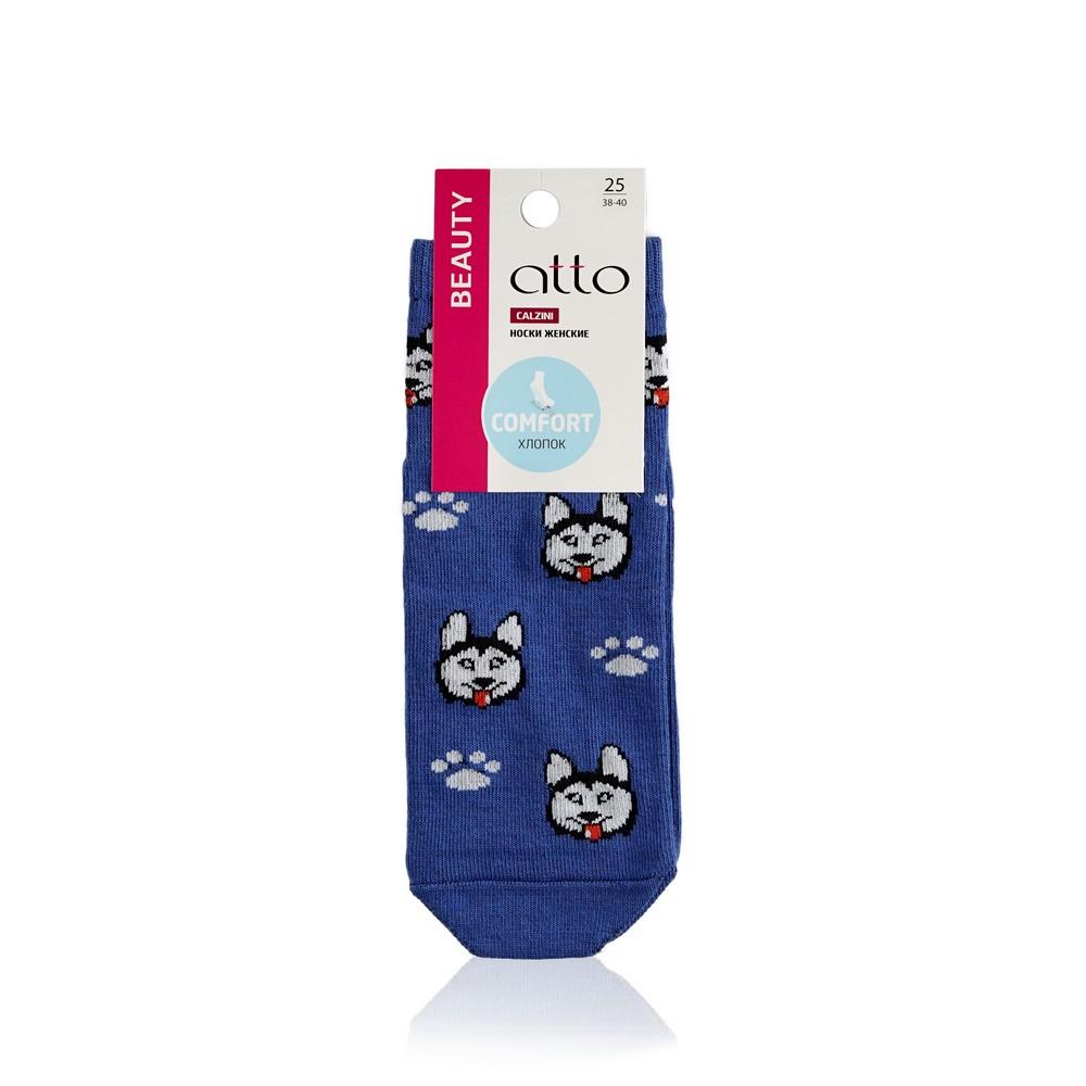 женские носки atto трикотажные джинс хаски р 23 Женские носки Atto трикотажные , васильковые  Хаски  р.25