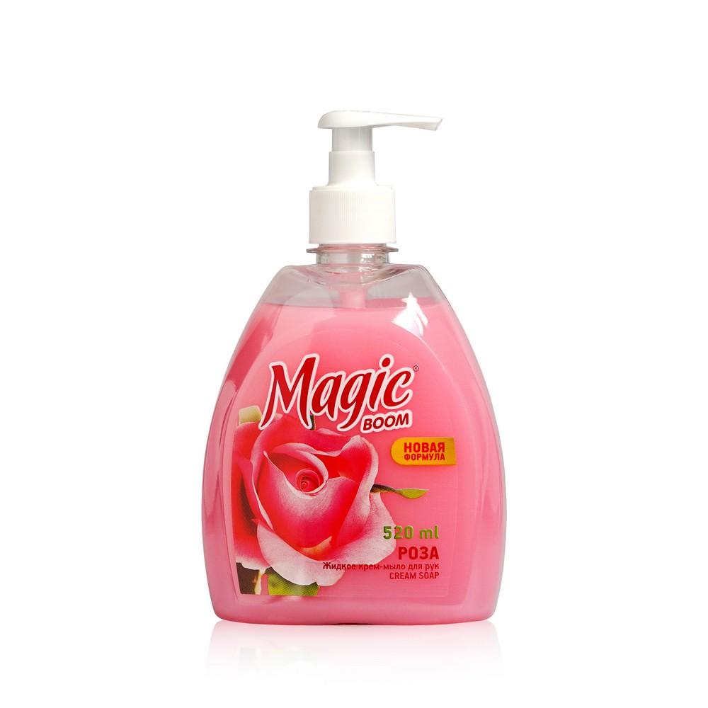Жидкое туалетное мыло Magic Boom , роза 520мл