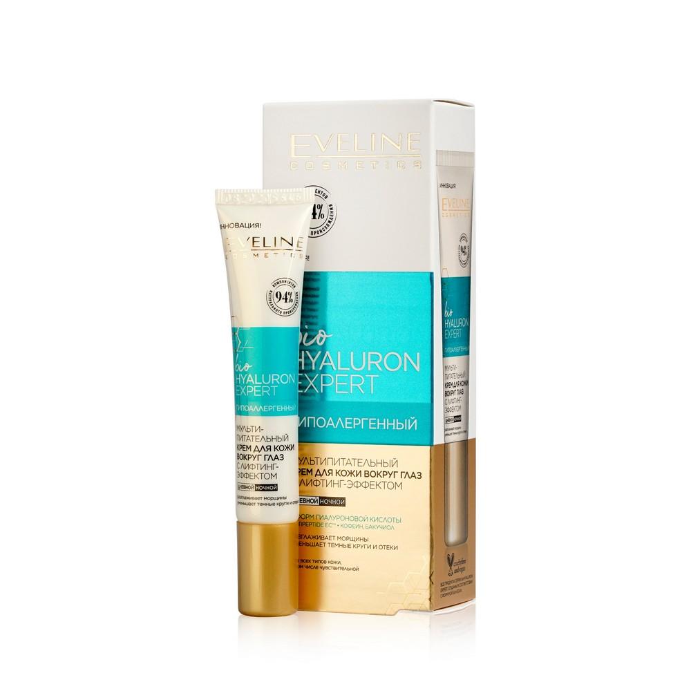 Крем для кожи вокруг глаз Eveline BioHyaluron Expert Мультипитательный , с лифтинг-эффект 20мл chi luxury black seed oil curl defining cream gel