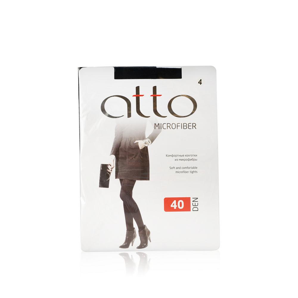Женские колготки Atto из микрофибры 40den черные 4 размер колготки allure vista 20 цвет glase бронза размер 4
