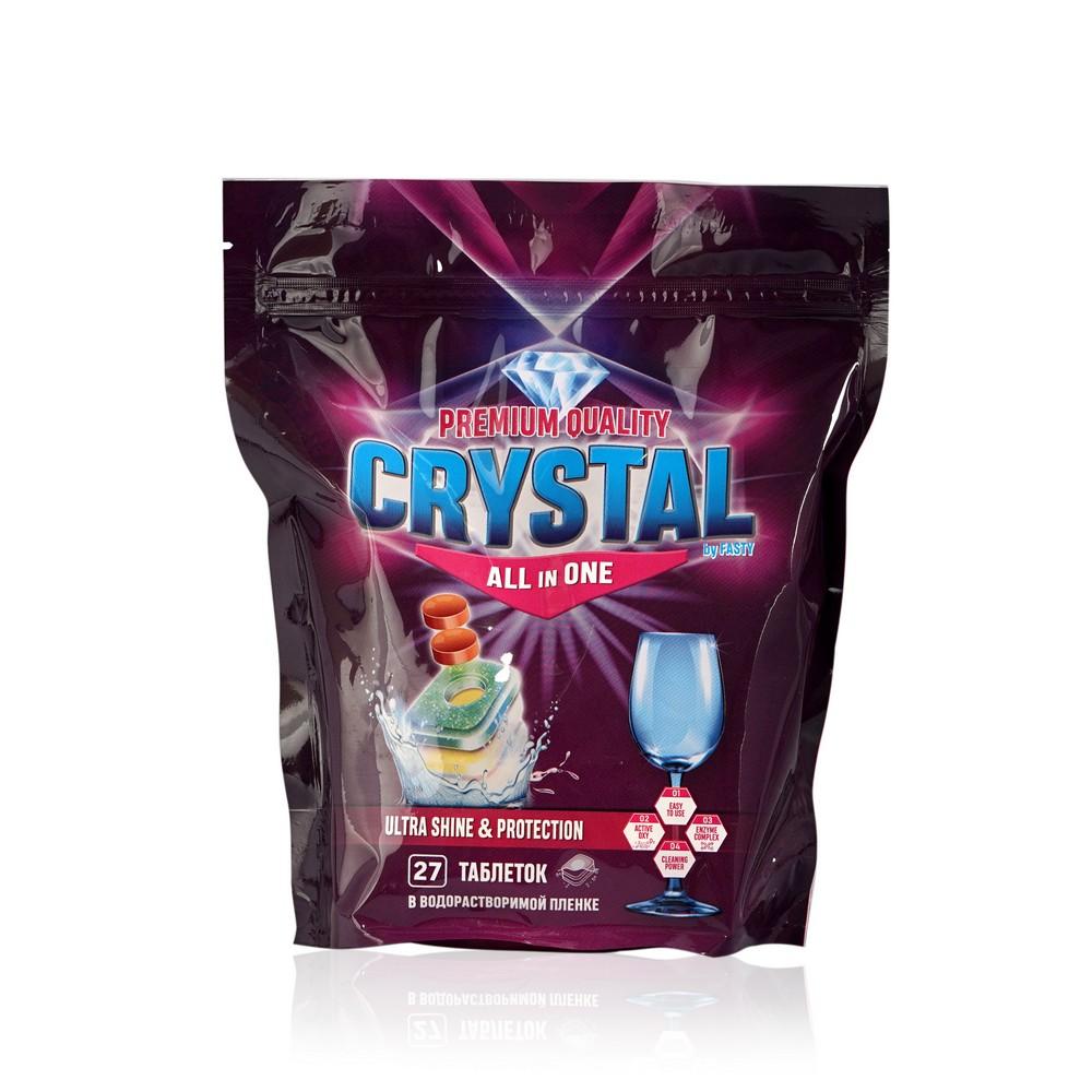 Таблетки для посудомоечных машин Fasty Crystall all in one 27шт таблетки д посудомоечных машин jundo таблетки д посудомоечных машин
