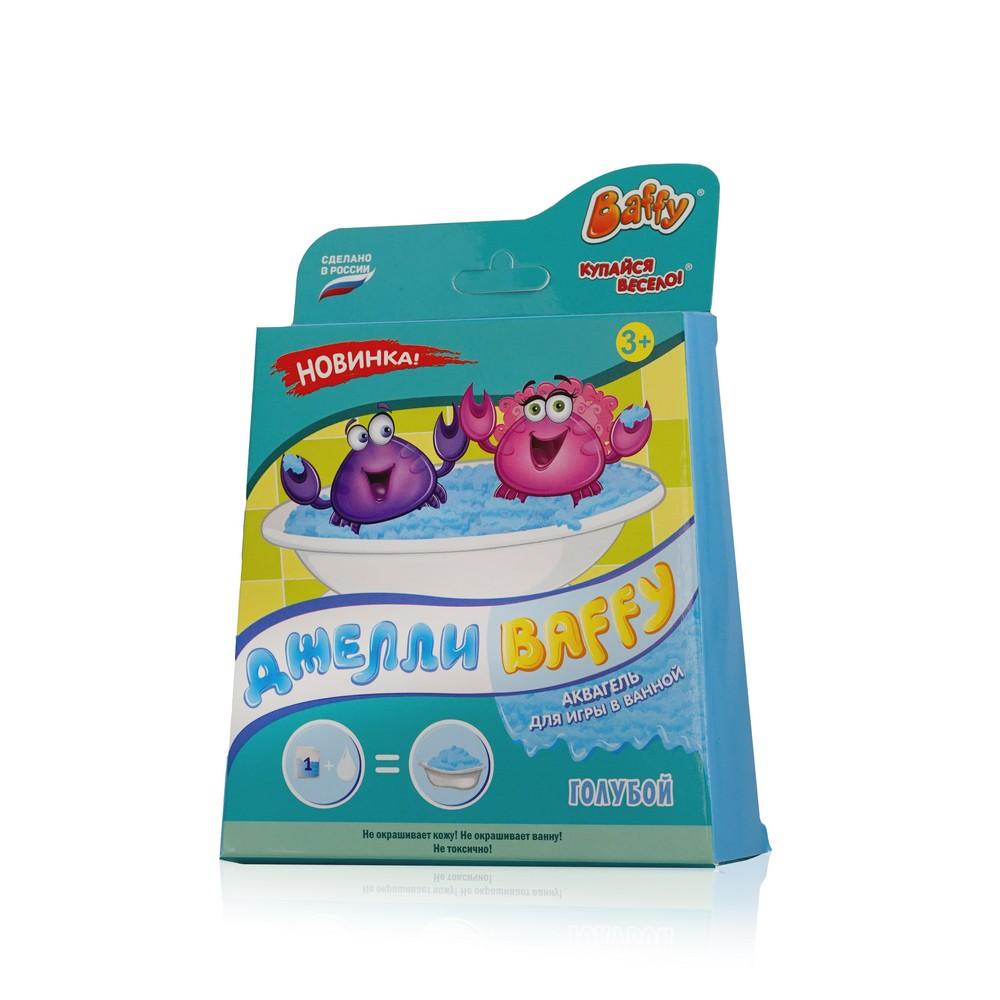 гели и пенки baffy happy set для девочек Средство для купания Baffy Джелли  аквагель для ванны Голубой  3+ 350г