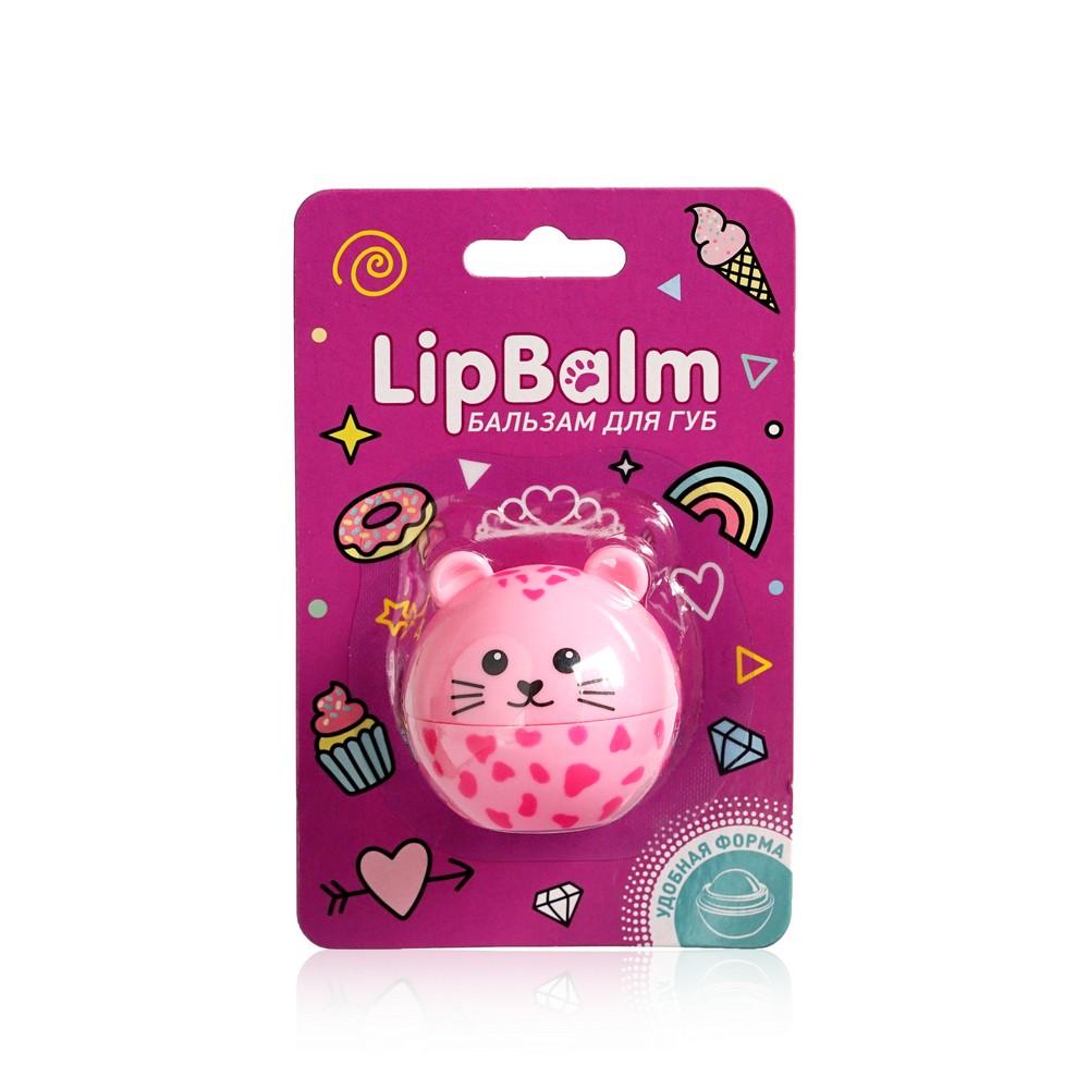 Бальзам для губ Lip Balm  Леопард  с ароматом клубники 6,5г бальзам для губ lip balm заяц с ароматом зефира 6 5г
