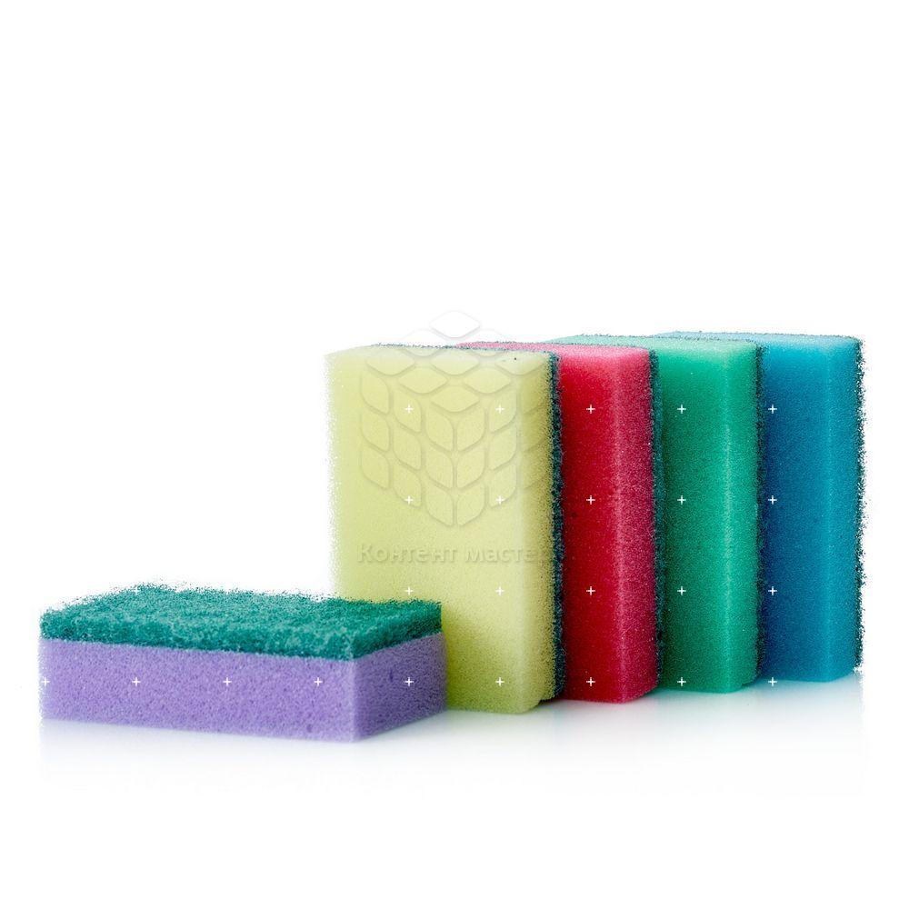 губка для мытья посуды rainbow home дельфин Губка В каждый дом для мытья посуды 10шт