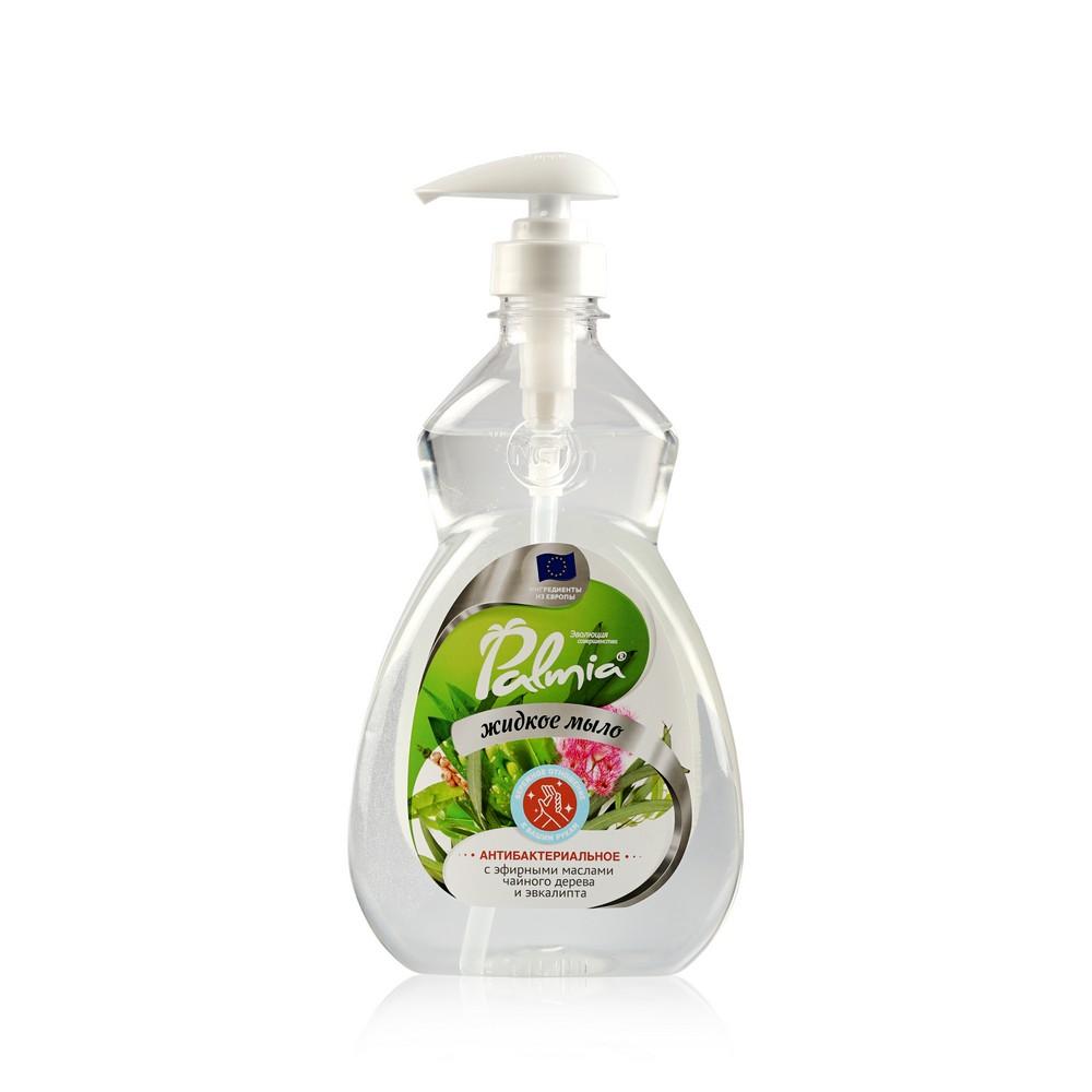 Жидкое мыло для рук Palmia антибактериальное , с эфирным маслом чайного дерева и эвкалипта 450мл недорого