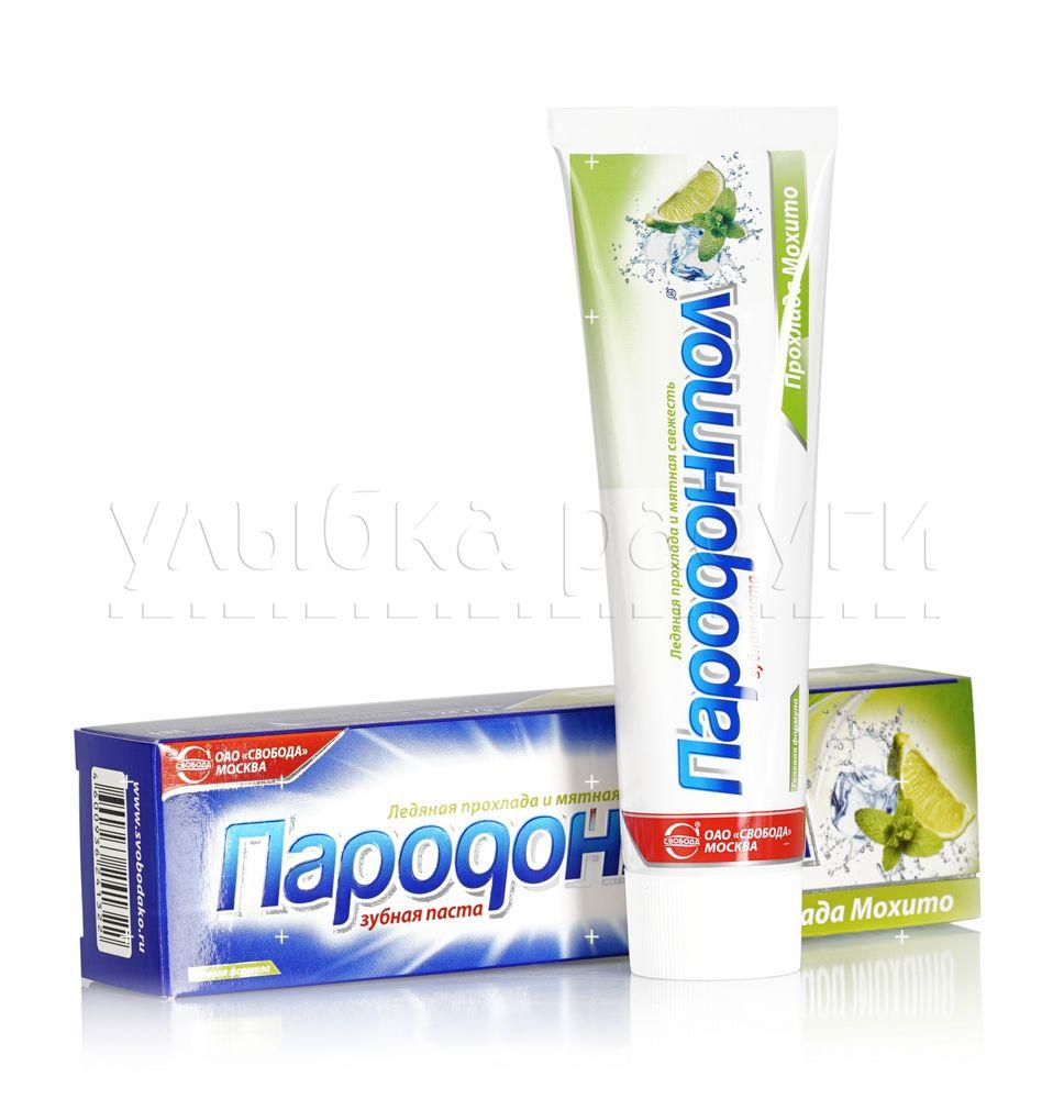 зубная паста пародонтол антибактериальная защита 124 г Зубная паста Пародонтол  Прохлада Мохито  124г
