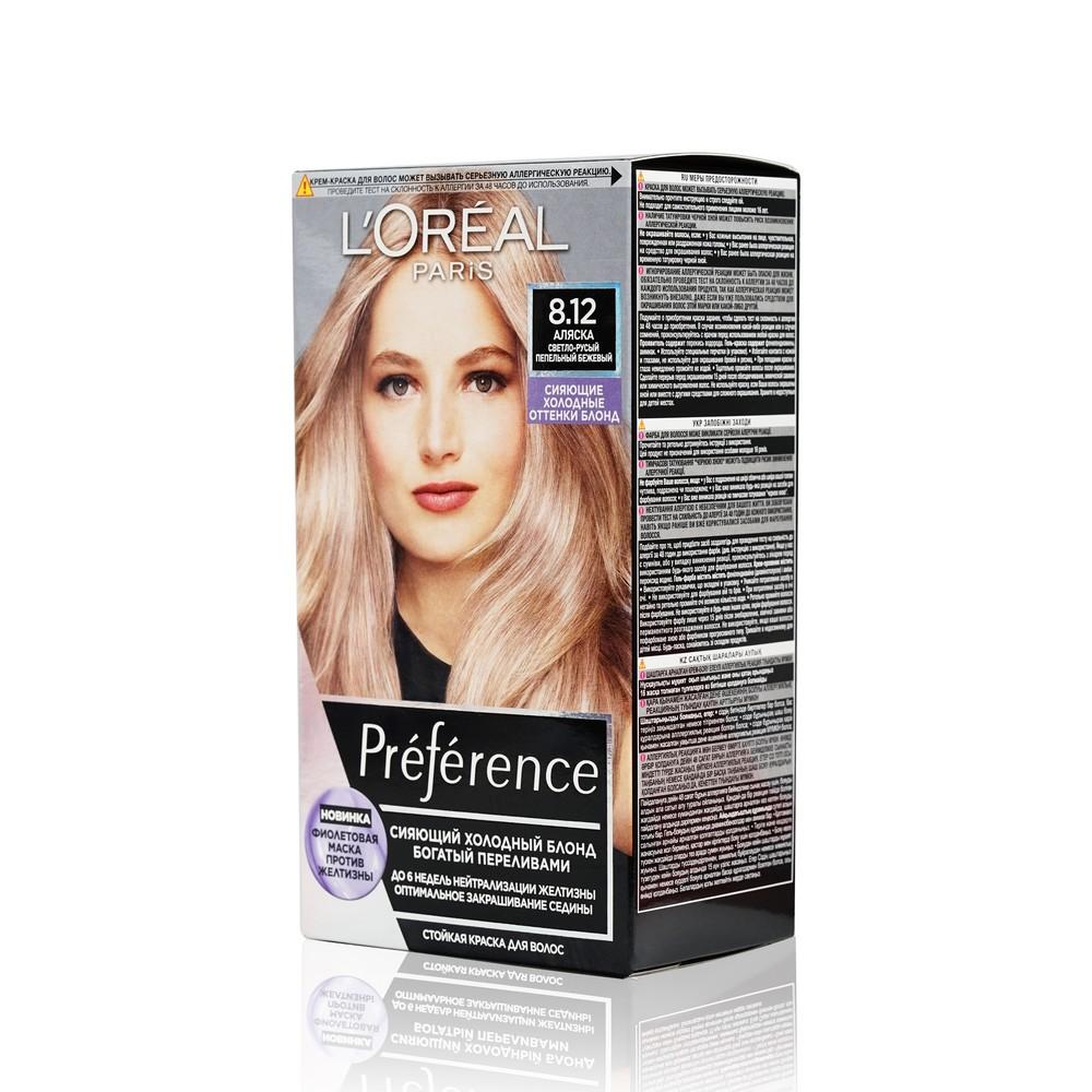 Фото - Стойкая краска для волос L'Oreal Paris Preference Cool blondes 8.12 Аляска l oreal paris 18