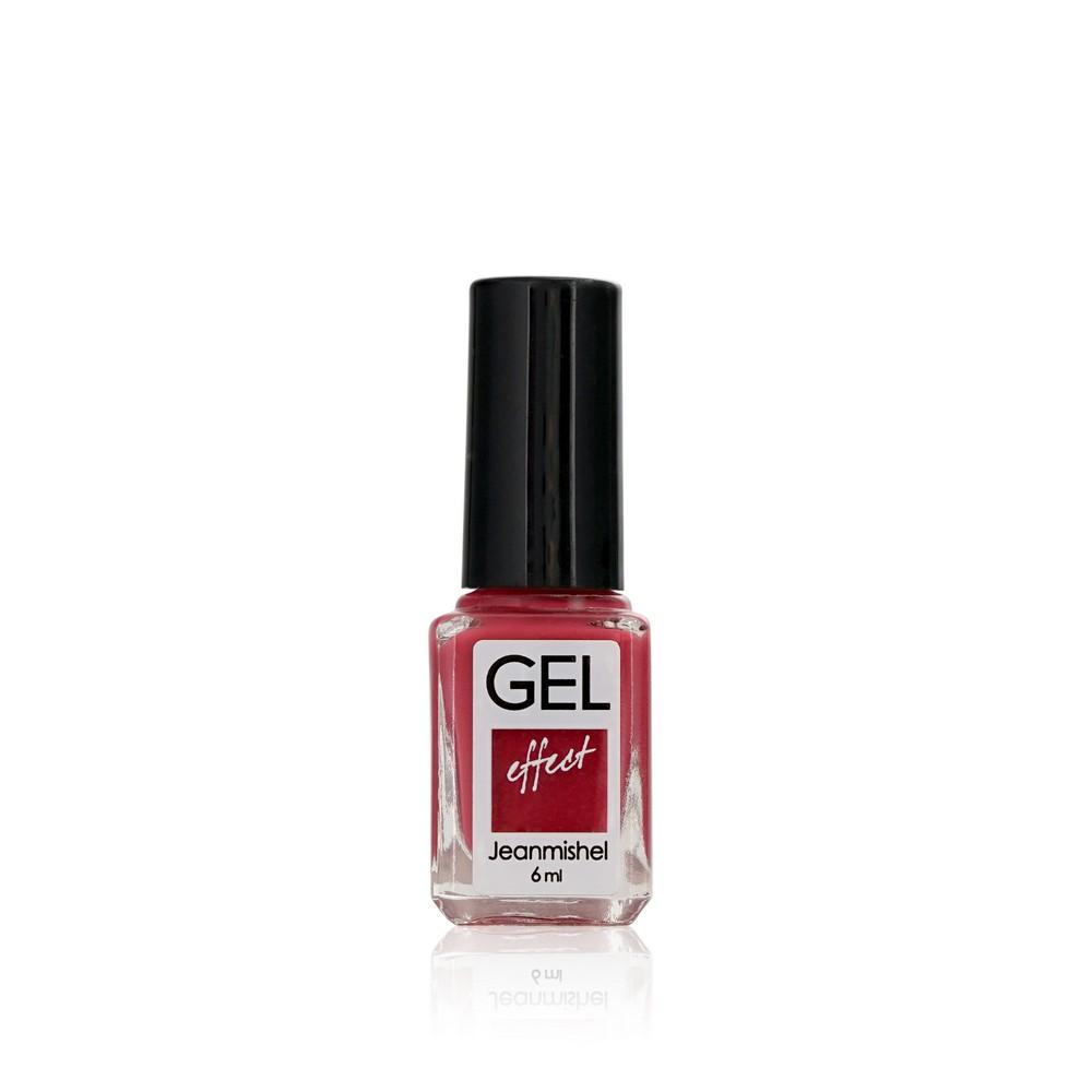 Лак для ногтей Jeanmishel GEL 351 Розово-красный матовый 6мл