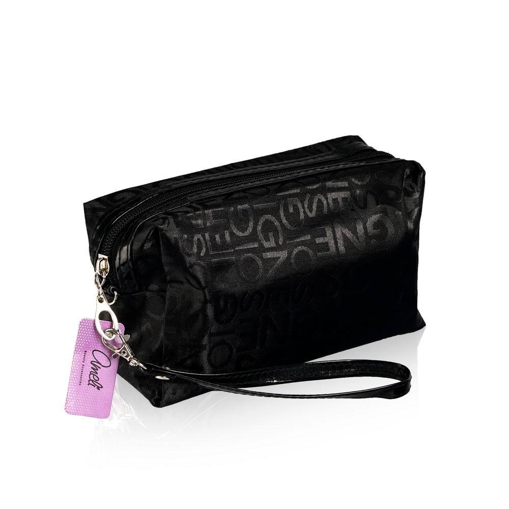 Фото - Косметичка Ameli тканевая , Черная , с ремешком-петлей косметичка конверт ameli со звездой